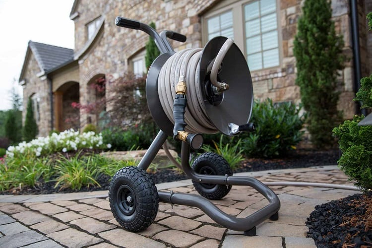 Grey Hose Reel Cart