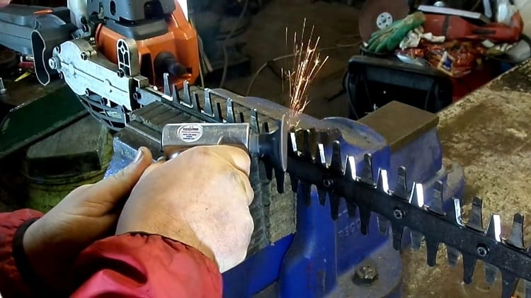 Can You Use A Power Grinder To Sharpen Hedge Trimmer Blades?