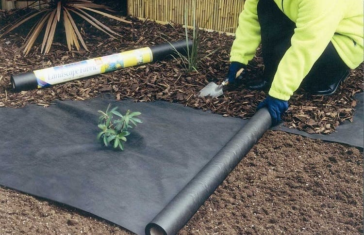 landscape fabric in garden