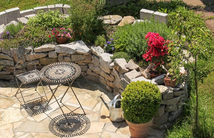 idea for corner in garden