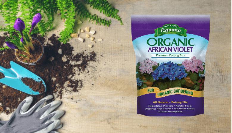 Espoma Organic African Violet Potting Mix garden soil