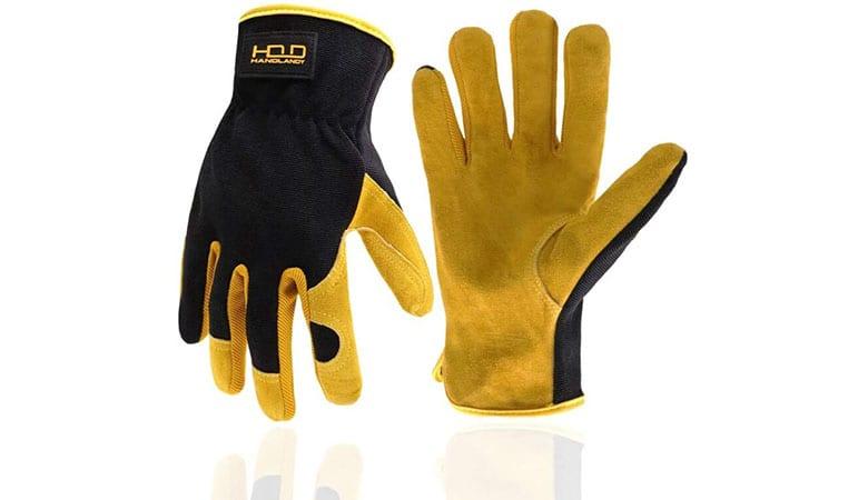 HandyLandy Cowhide Leather Gardening Glove