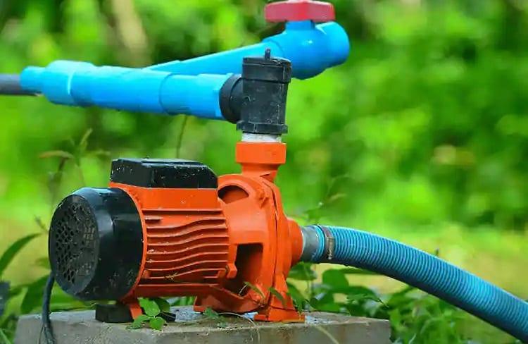 size of sprinkler pump